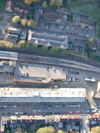Aerial photograph of Caterham station