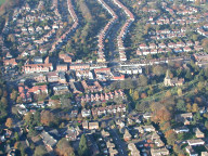 Aerial photograph of Banstead town centre