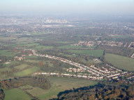Aerial photograph of View towards Croydon