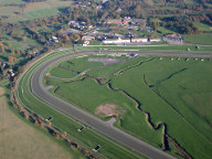 Aerial photograph of Lingfield racecourse