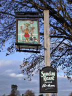 Pub sign, Weston Green