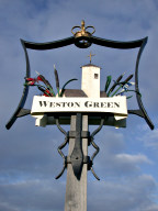 Village sign, Weston Green