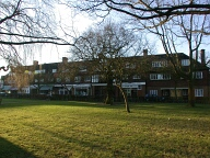 Green and shops, Hinchley Wood