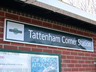Rail station sign, Tattenham Corner