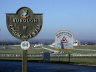 District and racecourse signs, Tattenham Corner