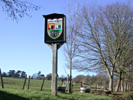 Sign and trees, Kingswood