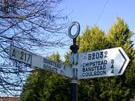 Road sign, Kingswood