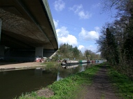 M25 bridge over Wey navigation, New Haw