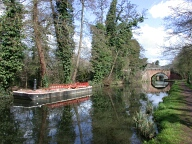 Barge and railway bridge, Byfleet