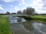 Golf course bridge over River Wey, Pyrford