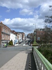 View from river bridge to town centre, Guildford