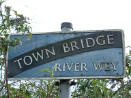 Town bridge sign, Godalming