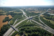 Aerial photograph of M25/M23 junction