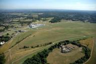 Aerial photograph of Epsom Downs racecourse
