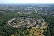 Aerial photograph of Village near Ashtead