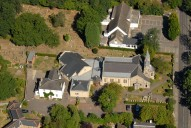 Aerial photograph of Church in Claygate