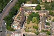 Aerial photograph of Hinchley Wood village centre