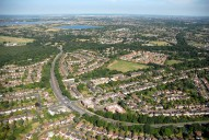 Aerial photograph of Hinchley Wood