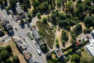 Aerial photograph of Hampton Court maze
