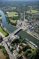 Aerial photograph of Bridge to East Molesey