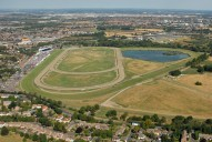 Aerial photograph of Kempton Park racecourse
