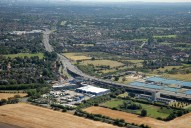 Aerial photograph of M3 near Sunbury