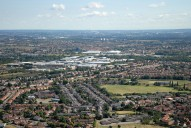 Aerial photograph of View north over Hounslow