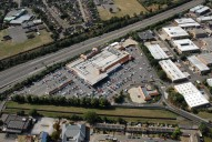 Aerial photograph of Supermarket in Sunbury