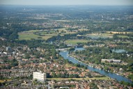 Aerial photograph of The Thames at Walton
