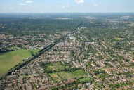 Aerial photograph of Hersham