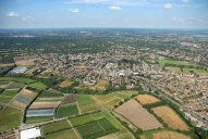 Aerial photograph of Fields and Hersham