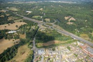 Aerial photograph of A3 Painshill junction and part of Cobham