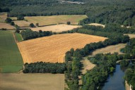 Aerial photograph of Field near Cobham