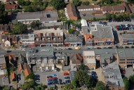 Aerial photograph of Cobham town centre