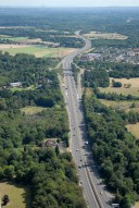 Aerial photograph of A3 Painshill junction