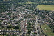 Aerial photograph of Byfleet