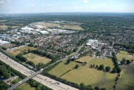 Aerial photograph of Byfleet and Brooklands