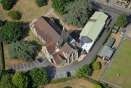 Aerial photograph of Church at West Byfleet