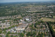 Aerial photograph of West Byfleet