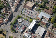 Aerial photograph of West Byfleet village centre