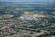 Aerial photograph of View over Woodham and New Haw to Addlestone