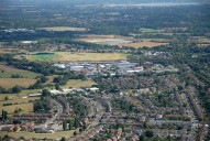 Aerial photograph of Woodham and New Haw