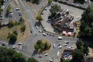 Aerial photograph of Roundabout at Ottershaw