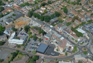 Aerial photograph of Addlestone town centre