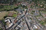 Aerial photograph of Weybridge town centre