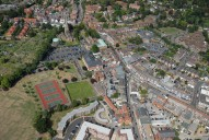 Aerial photograph of Weybridge