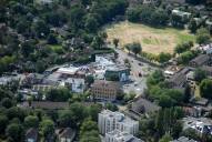 Aerial photograph of Monument Hill, Weybridge