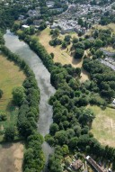 Aerial photograph of Broadwater Lake, Weybridge