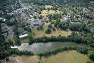Aerial photograph of Broadwater Lake, Weybridge