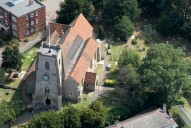 Aerial photograph of Church at Walton